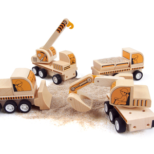 UDEAS Assemble solid wood toys toys boys cars for kids,car toys for kids construction truck