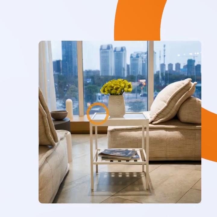 BAMBKIN Desain Modern Meja untuk Ruang Tamu Meja Kopi Sofa Tinja Perabotan, Perlengkapan Peralatan Rumah Tangga Bambu Meja