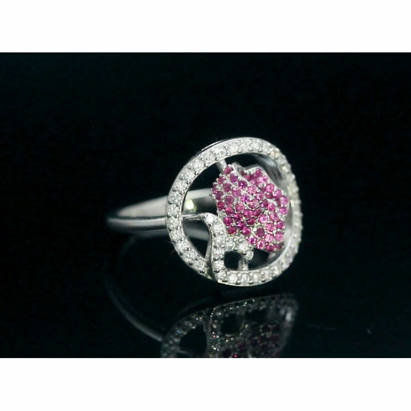 RINNTIN SR228 New Arrival Flower Ring Real 925 Sterling Silver Delicate Women Finger Ring Jewelry