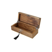 High quality custom walnut small storage gift wood tea box with lock