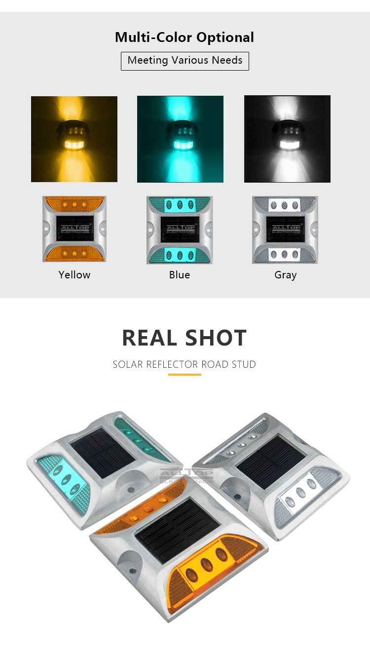 ALLTOP outdoor waterproof ip65 3 years warranty all in one led solar road stud