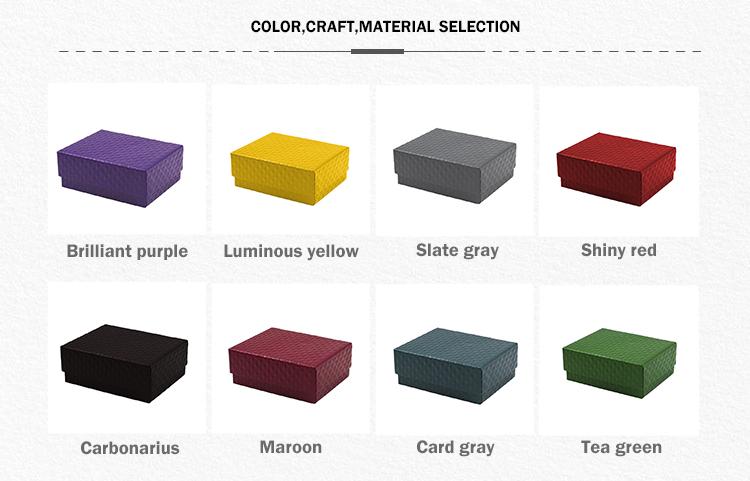 Di Fascia alta Scatola di Cartone Ondulato di Imballaggio Dei Monili Su Misura di Carta Colorata Scatola di Cartone