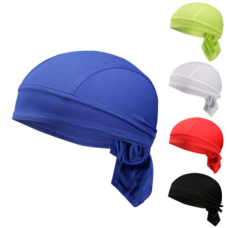 Coolmarch stock pure color riding hat headband bicycle sports bandanna caps polyester material breathable design