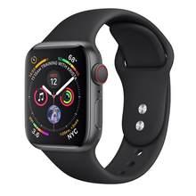 Ремешок для apple watch 38 мм 42 мм iwatch band 40 мм 44 мм спортивный резиновый браслет ремешок для часов apple watch 5 4 3 2 band(Китай)