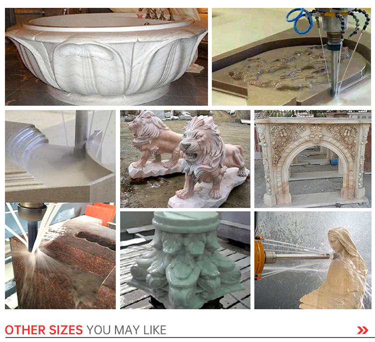 garden stone art making 1325 cnc router machine 5 axis