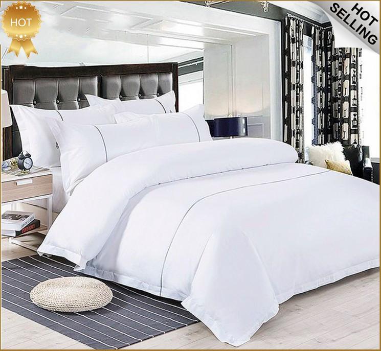 Großhandel angepasst logo ägyptischen 100% baumwolle hotel bettwäsche 3 pcs bett blatt
