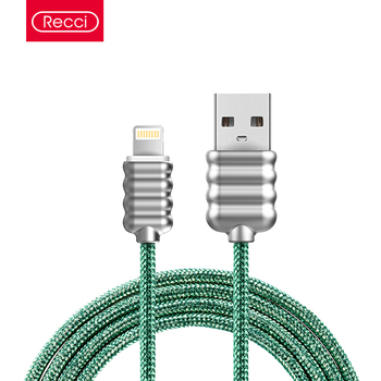 Recci android quick phone charger usb metal charging cable