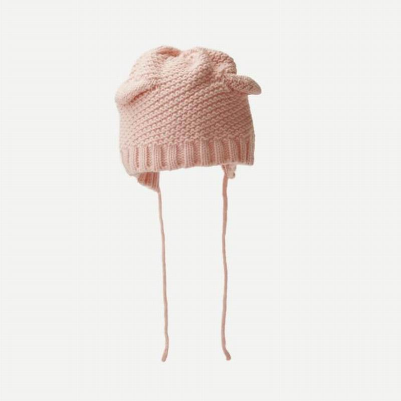Cheap Plain Beanies Solid Fashion OEM Style Fabric Warm cotton Knit Hat for kids