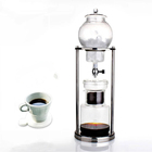 beverage glass long neck stainless steel coffee drip pot tea kettle, iced cold brew coffee maker