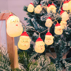 Holiday Lights String Led Hot Sale Holiday Merry Christmas Tree Santa Battery Cute LED Decorations String Light