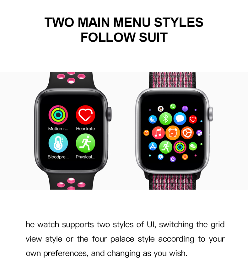 T500 for Android Ios Smartwatch PK IWO 8 10 11 Series 4 5 Smart Watch T500 for iPhone Apple Xiaomi