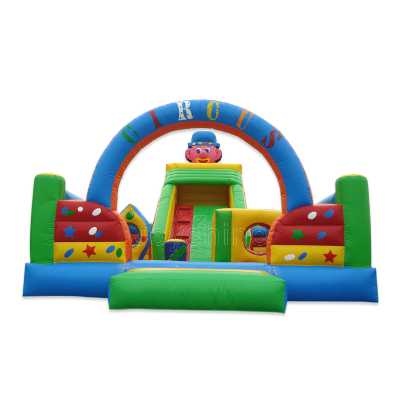 Large Inflatable Clown Fun City Castle Bouncer Playground Commercial Kids Children Jumping Bouncy Castles  For Sale