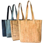 Custom Leather Natural Vegan Cork Tote Bag Fashion Shopping Bag