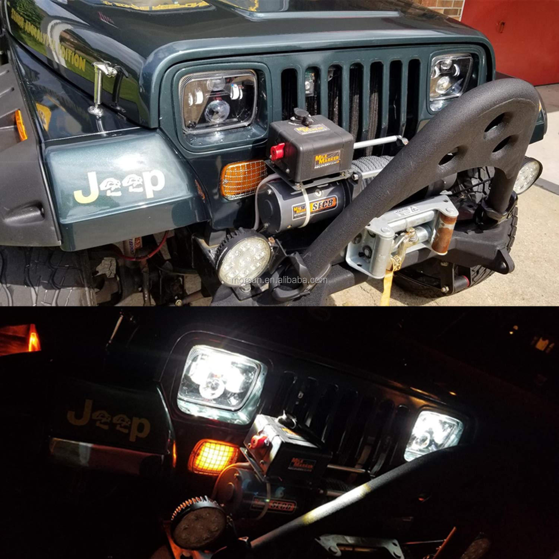 Titik 5X7 Lampu Led 5X7 Inci Truk Lampu untuk Jeep Cherokee Xj Lampu Depan