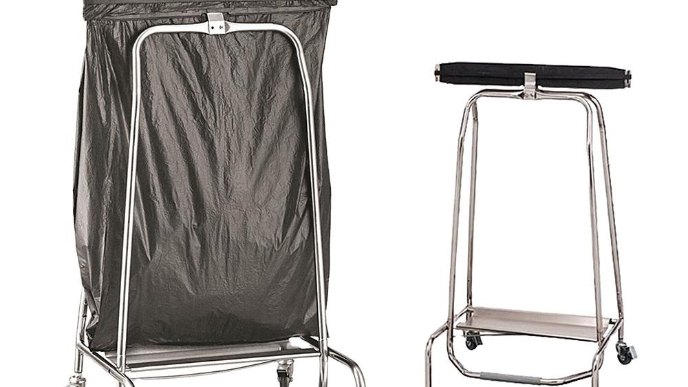 Heavybao Stainless Steel Garbage Trash Bag Holder Space Saving Separatable Rubbish Bag Holder