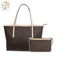 Shengnuo Manufacturer Wholesale Famous Brands Bag Designer Purses Pu Leather Tote Women Handbags Set