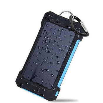 2019 Amazon best selling waterproof Portable mobile fast charger solar energy power bank with strong led light for mobile phone
