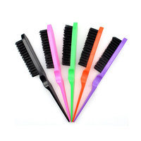 Professional Salon Mixed Color Comb Slim Line Teasing Combing Hair Brushes For Beauty
