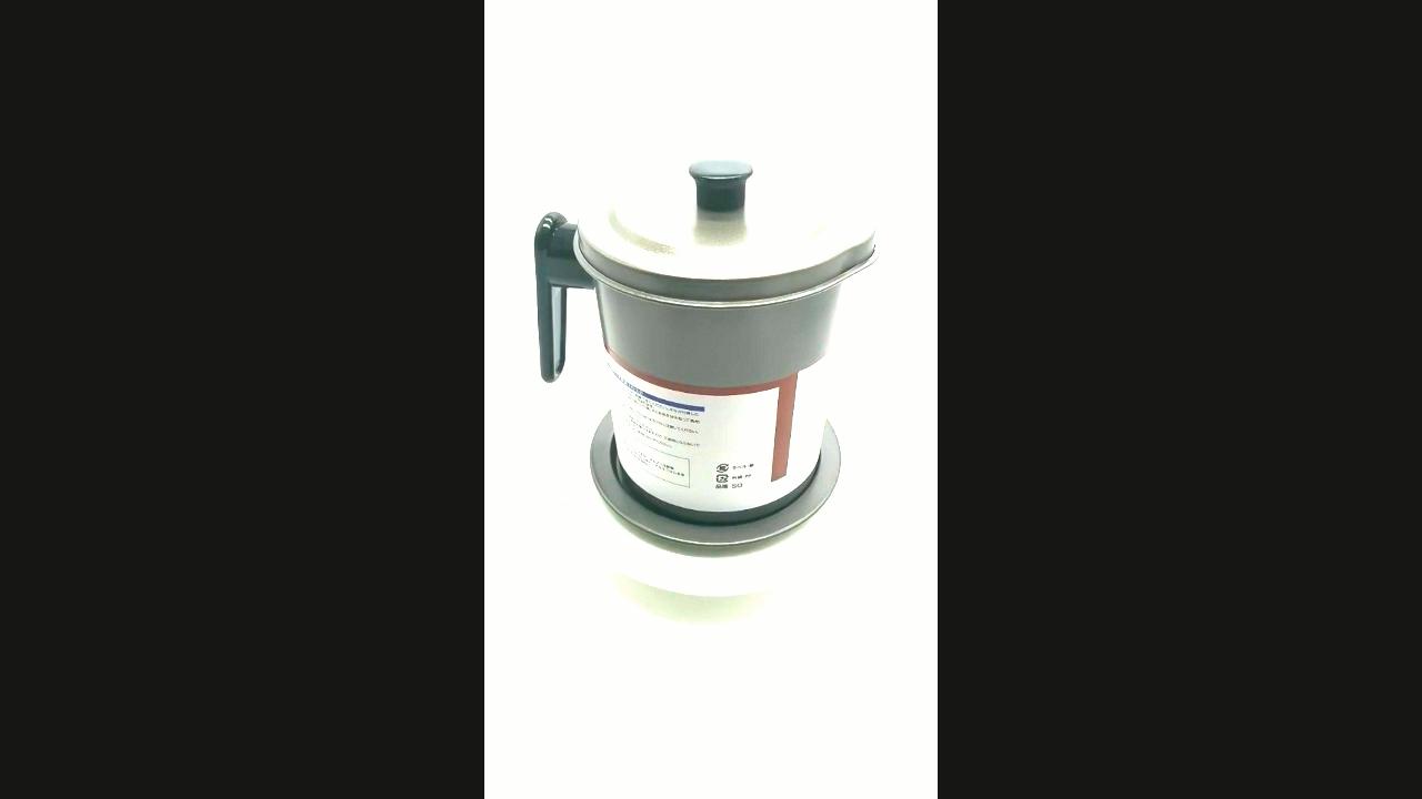 1.7L Hot Penjualan Non-Slip Non Stick Steel Gray Filter Oil Pot untuk Dapur Rumah Tangga