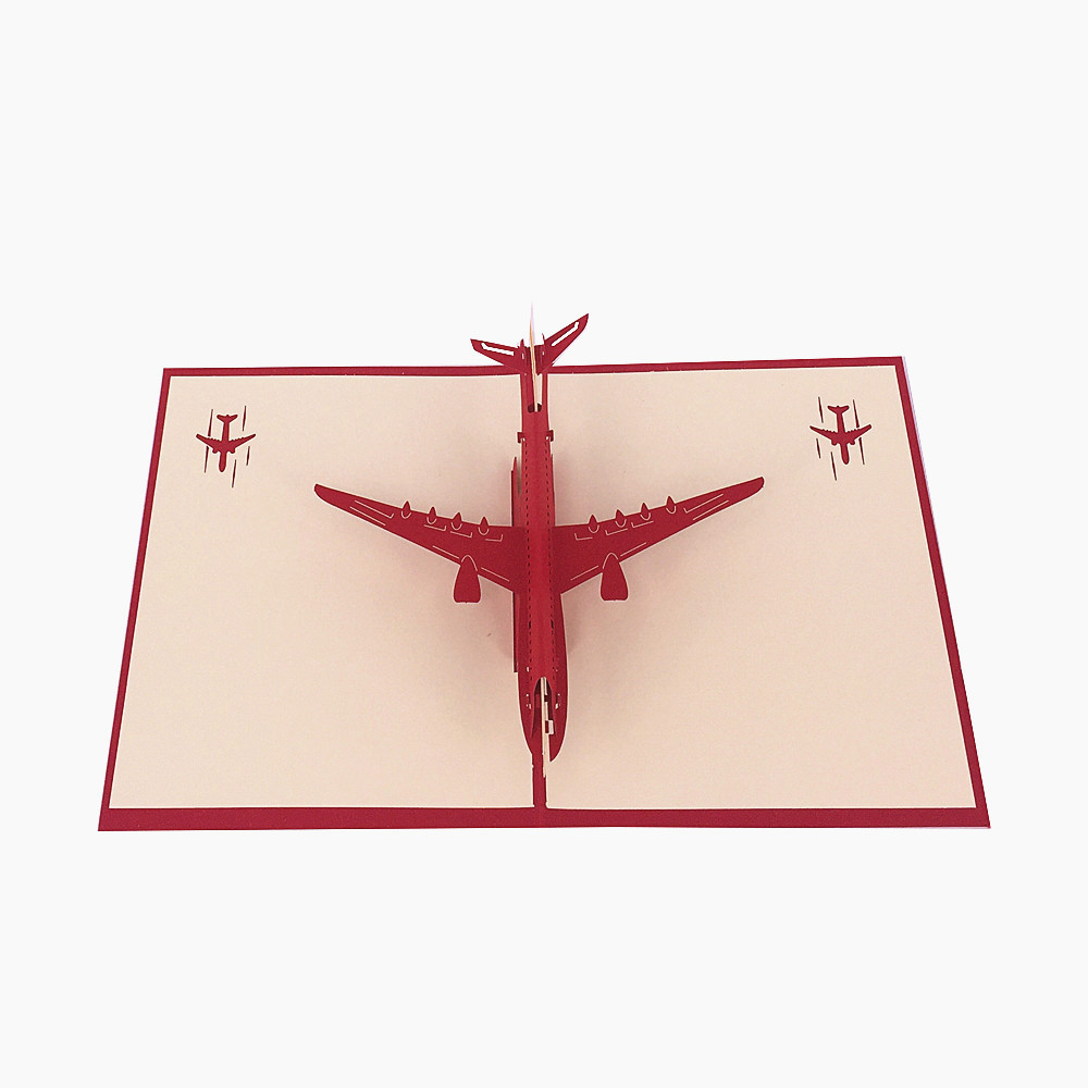 3D Pop Up Airplane Greeting Card for Pilots and Flight Enthusiasts
