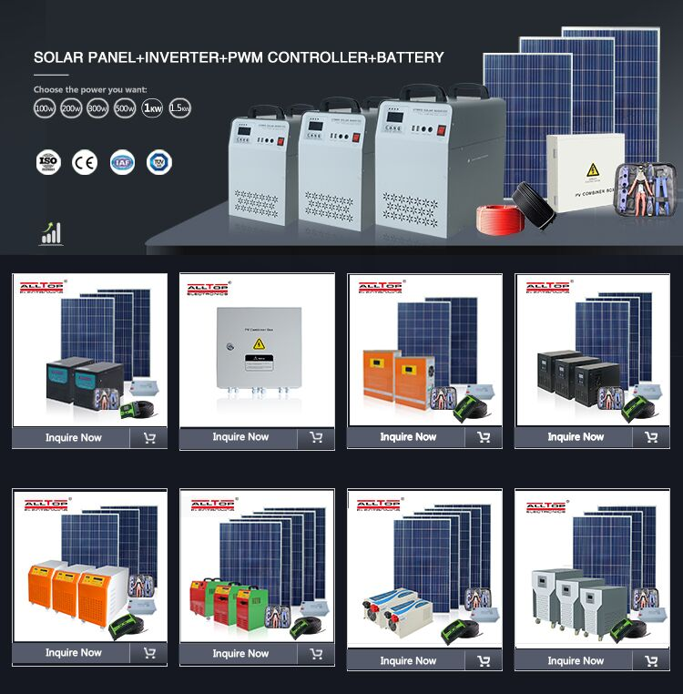 product-Solar generator system hybrid on-grid solar inverter 300 500 1000 watt pure sine wave power