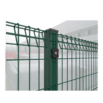 Anping galvanized welded wire mesh garden fence Steel Roll Top fence triangle bending wire mesh fence