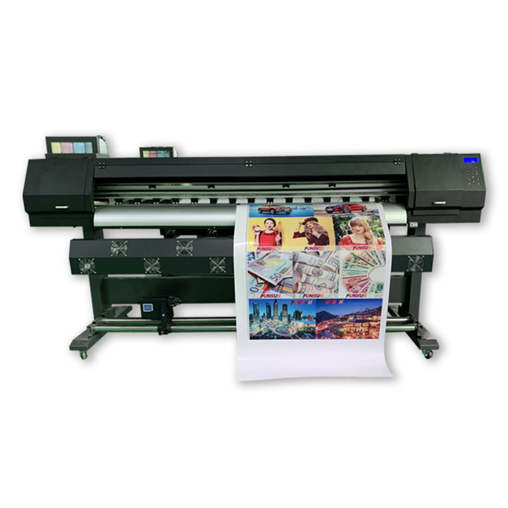 Free ink!1800B Digital wallpaper printing machine 1440dpi dx6 heads banner sticker flex printing eco solvent printer