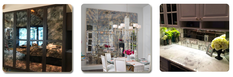 antique mirror glass tile price