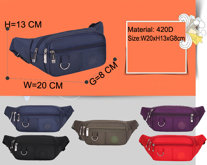 Lightweight Waist Money Wallet Cell Phone Pouches Walker Waist Packs Wholesale Bum Bag