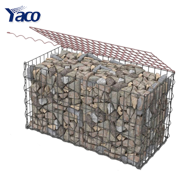 Solid anping galvanized small security safety barriers wire mesh welded rust resistance gabion box