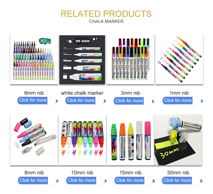 Неоновые цветные влажные стирающиеся лучшие жидкие Меловые маркеры для меловой доски краски