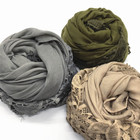 wholesale fashion scarf Lace with flower scarf women muslim hijab