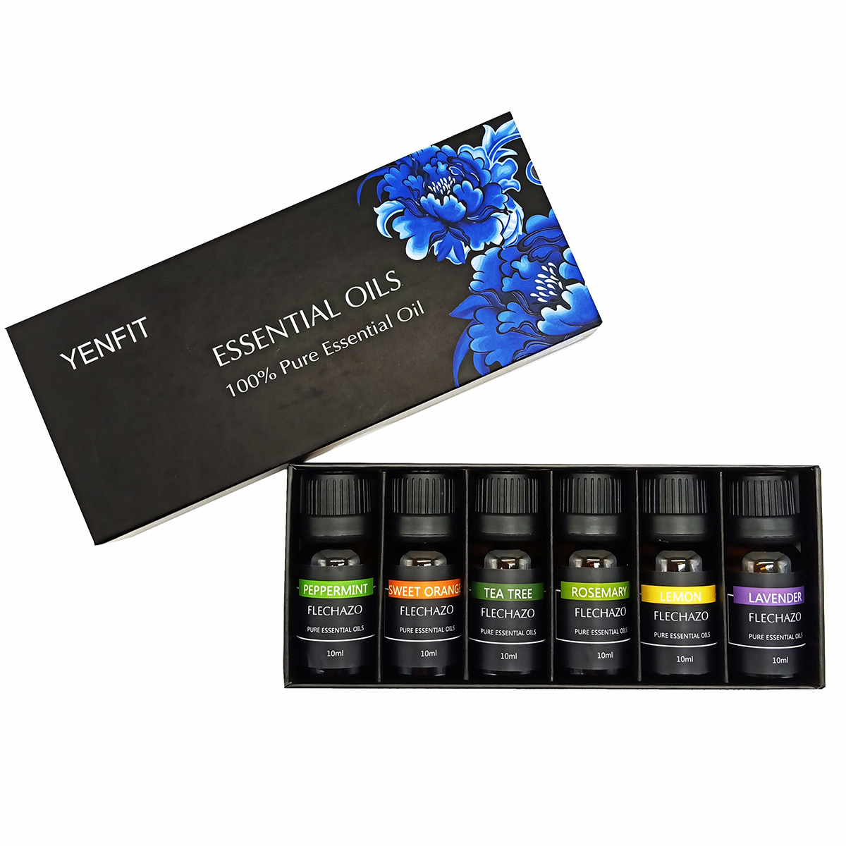 Hot Sale 100% pure therapeutic grade aroma oil 10 ml lavender essential oil set gift box 10ml water soluble