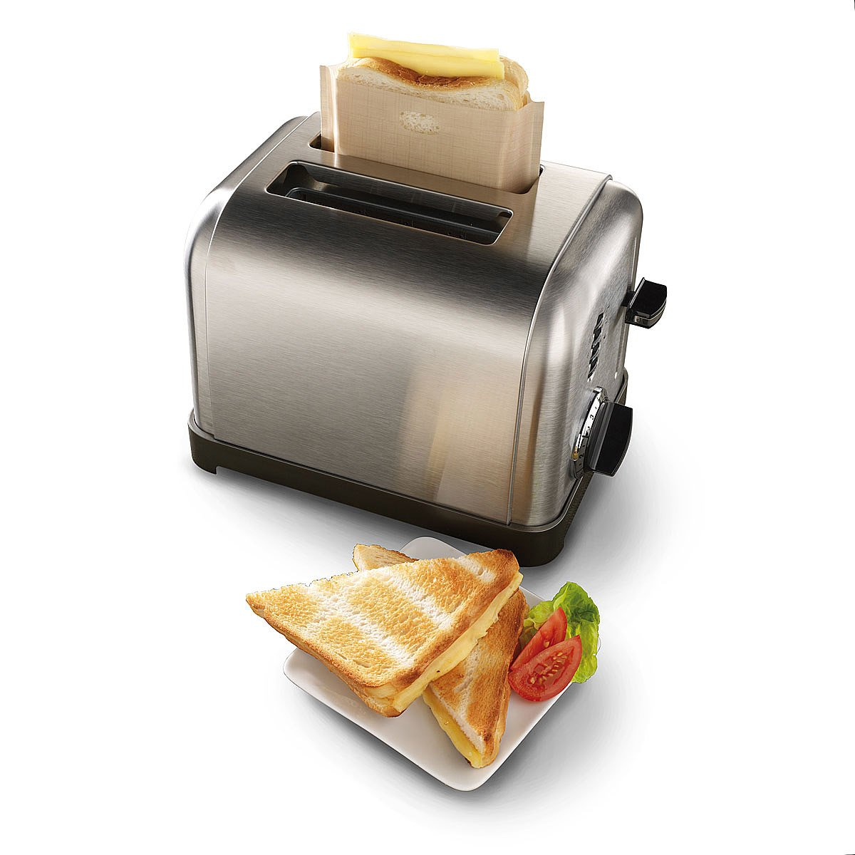 Toast bread bag teflon coated non-stick reusable toaster bag for grilled cheese sandwiches