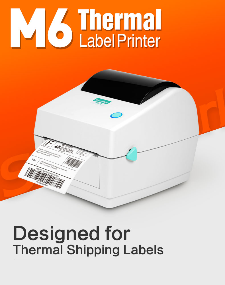 Dengan Harga Murah Kualitas Tinggi Thermal Label Printer 4X6 Direct Thermal Max Lebar Cetak 108 Mm Barcode Printer