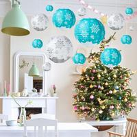 Christmas Supplies Merry Christmas Decorating Snowflake Ornaments Decoration Paper Lantern Christmas Snowing Lantern
