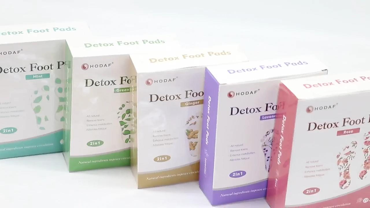 Private label migliorare il sonno organico ione pulisce oro del piede del detox patch con adesivo nastri