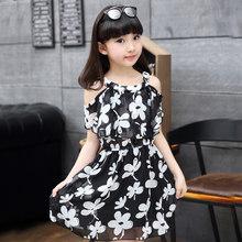 Цветочное платье с бабочкой для девочек, летнее праздничное платье принцессы, подростковая одежда для девочек 6, 7, 8, 9, 10, 11, 12 лет(Китай)
