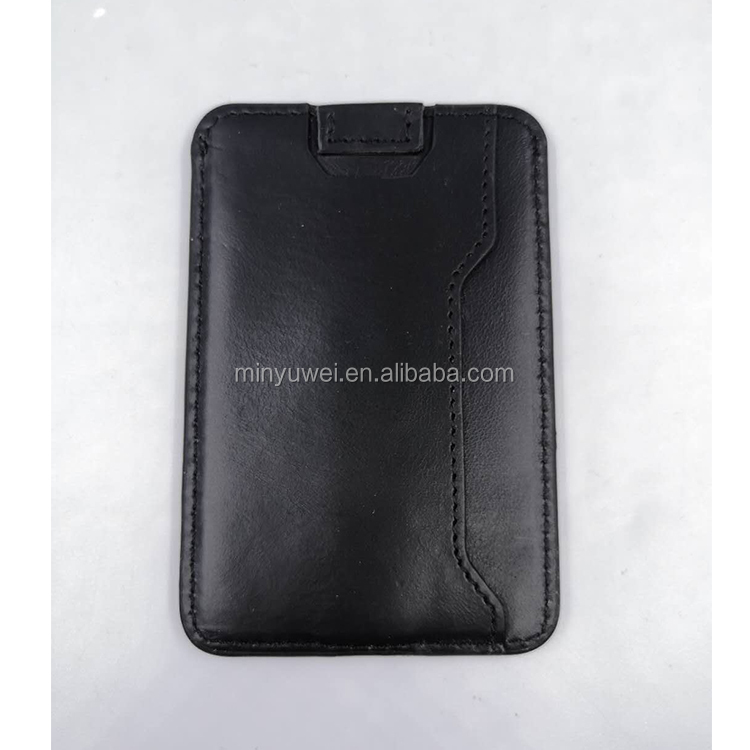 RFID Blocking Minimalist Credit Card Holder Slim Mens Card Wallet from Genuine Leather