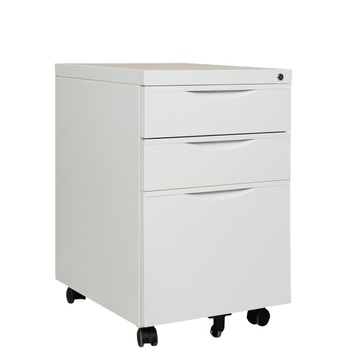 Steel office home commercial furniture office equipment 3 Drawer Mobile Pedestal Cabinet movable metal Filing Cabinet