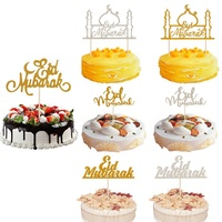 Moon Star Eid Mubarak Cake Toppers Gold Black Cake Toppers Birthday Cakes For Ramadan Decoration Kids Eid Party Favors