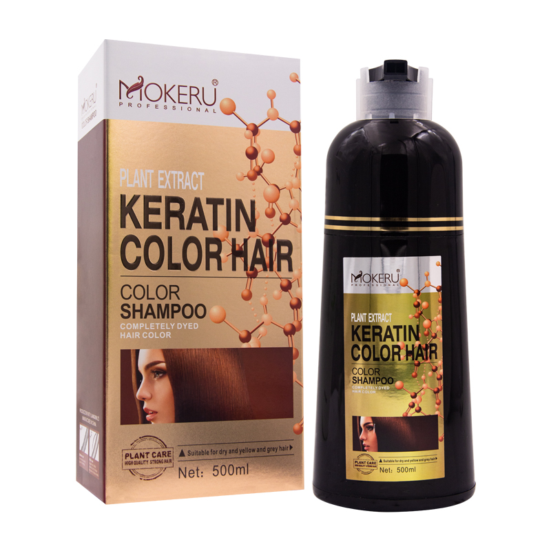 Keratin <strong>hair</strong> <strong>color</strong> shampoo for natural <strong>color</strong> <strong>hair</strong> dye fast change <strong>hair</strong> <strong>color</strong> 100% cover white/grey/black <strong>hair</strong> for family use