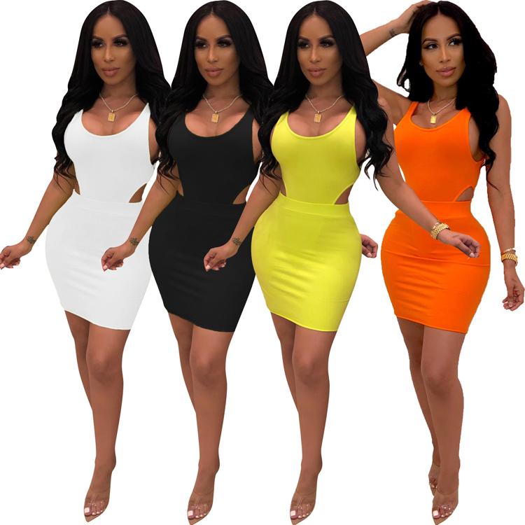 प्रेमी-सौंदर्य निर्माता कीमतों 4 सादे रंग बिना आस्तीन मिनी Bodycon महिला ग्रीष्मकालीन अलीबाबा कपड़े