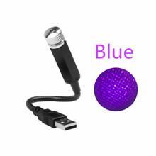 USB лампа для украшения автомобиля, ночник, галактика, на крышу, звездный свет, для салона, мини, светодиодный, звездный, лазерный, атмосферный,...(Китай)