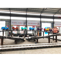 2019 New Design Electric Track Train Children Amusement Mini Shuttle Rides for sale