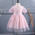 2020 Alibaba hot fashion girls puff short sleeves O-Neck dress wholesale toddler tulle frock dress