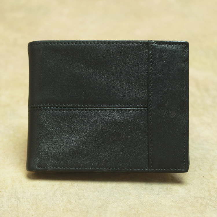 product-Male Genuine Leather Wallet Credit Business Card Holders Vintage Brown Leather High Quality -1