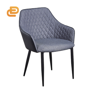 Hot selling Fabric Upholstered Dining Chair Modern fabric powder coated metal leg Soft Seat Velvet Dining Chair home furniture