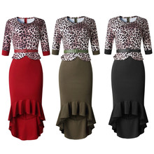 Frauen <span class=keywords><strong>Plus</strong></span> <span class=keywords><strong>Größe</strong></span> <span class=keywords><strong>Kleid</strong></span> Vintage Leopard Patchwork Stretchy Arbeit Casual Bodycon Bleistift <span class=keywords><strong>Plus</strong></span> <span class=keywords><strong>Größe</strong></span> Frauen Kleidung <span class=keywords><strong>Kleid</strong></span>