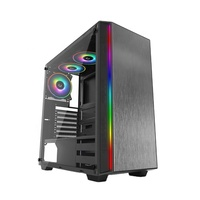 JNP-C9302D Black ABS Plating Draw Bench Handcraft Flowing RGB Blet RGB Fan Gaming PC Case